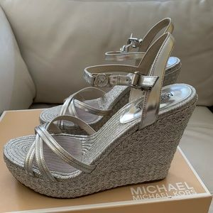 Michael Kors Cicely ankle strap wedges